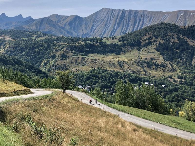 Abfahrt Col du Mollard mit dem Rennrad