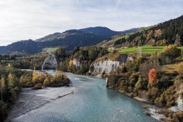 Drohnenaufnahme Vorderrhein