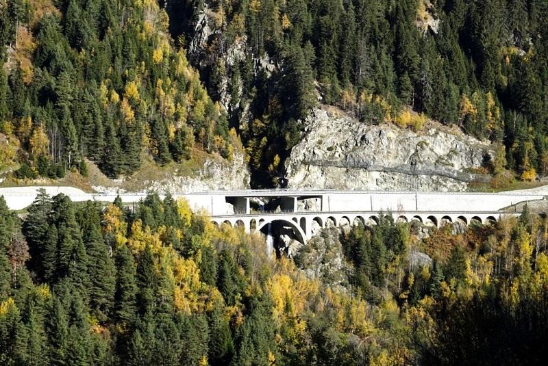 Brücke Räthische Bahn Surselva