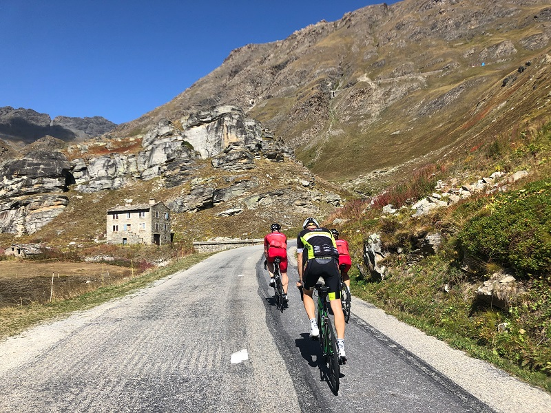 Radfahrer Col de l'Iseran