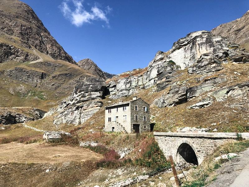 Strasse auf den Col de 'Iseran