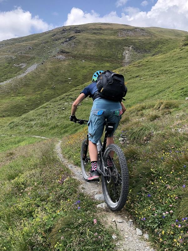 Mountainbiker auf dem Trail