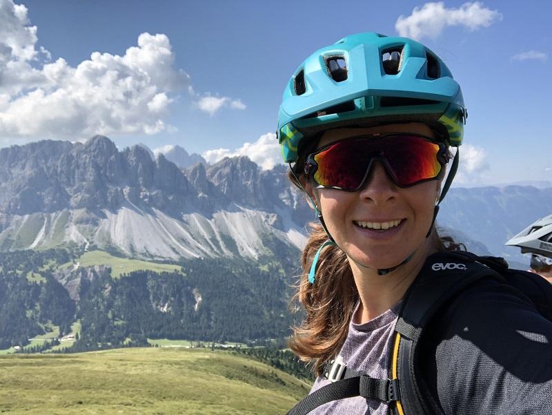 Mountainbiker in den Dolomiten