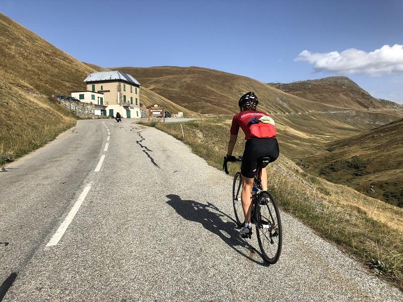 Rennradfahrer Col du Glandon