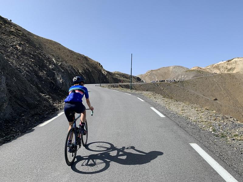 Rennradfahrer Col du Galibier
